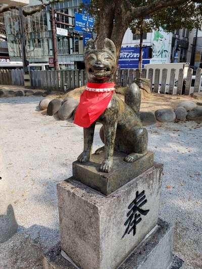 福岡県今益稲荷神社の狛犬