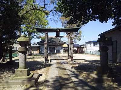 埼玉県東越谷香取神社の鳥居