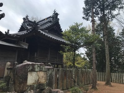岡山県縣主神社の本殿