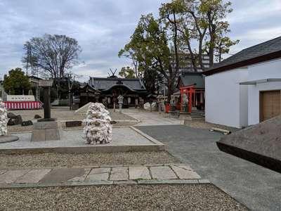 姫嶋神社の庭園