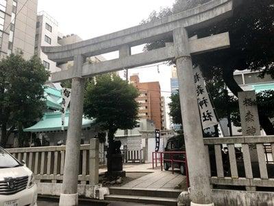 東京都椙森神社の鳥居