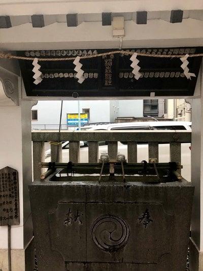 椙森神社の手水