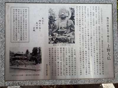 上野大仏(東京都京成上野駅) - 未分類の写真