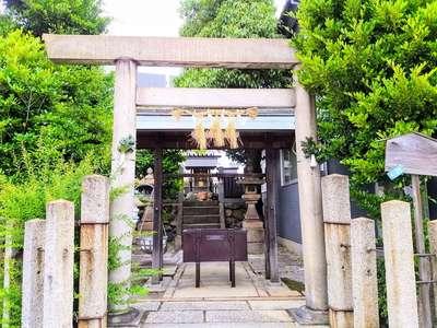 愛知県神明社(沢上神明社)の鳥居
