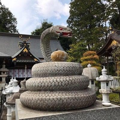 白蛇辨財天の狛犬
