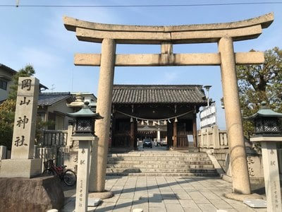 岡山県岡山神社の鳥居