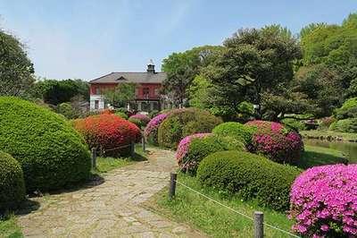 次郎稲荷神社の庭園