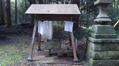 柏田神社の手水