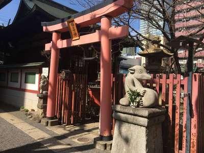 東京都柳森神社の鳥居