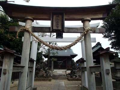 埼玉県新井宿 子日神社の鳥居