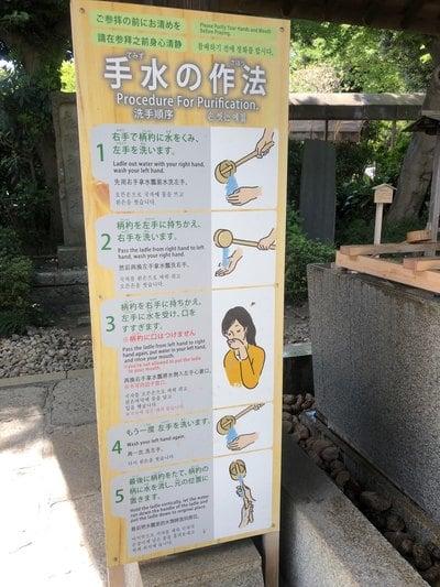 松陰神社(東京都松陰神社前駅) - 手水舎の写真