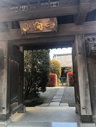 東京都専称寺の山門