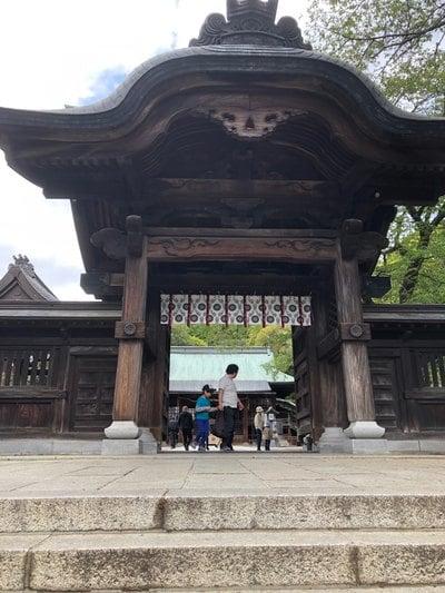 栃木県宇都宮二荒山神社の山門