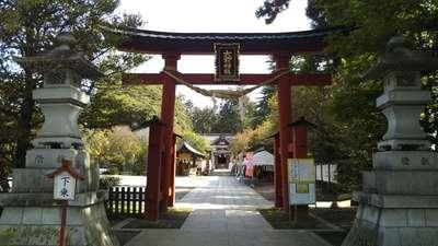 栃木県大前神社の鳥居