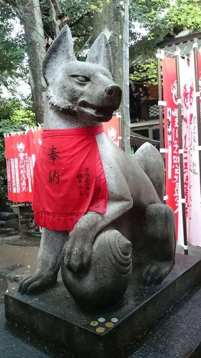 豊川稲荷東京別院(東京都赤坂見附駅) - 狛犬の写真