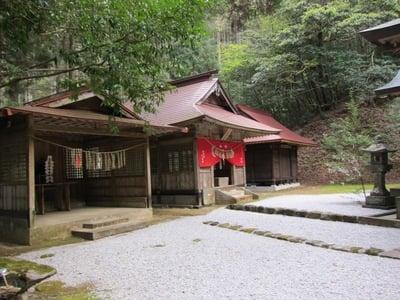 宮崎県二上神社の本殿