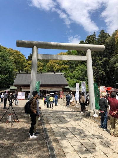 常磐神社(茨城県東水戸駅) - 鳥居の写真