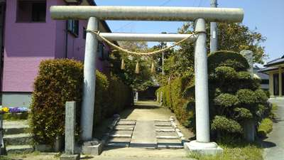 茨城県津方神社の鳥居