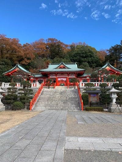 足利織姫神社の本殿