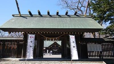 北海道千歳神社の山門
