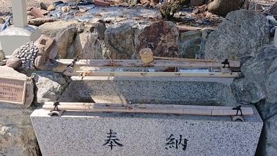 星置神社の手水