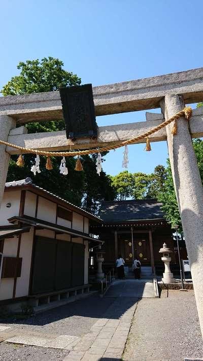 埼玉県日枝神社の鳥居