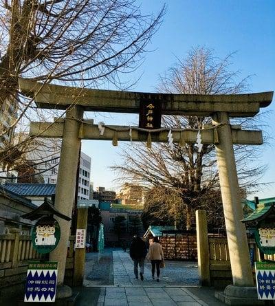 東京都今戸神社の鳥居