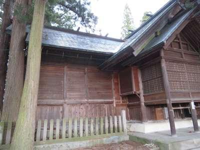 岐阜県飛騨総社の本殿