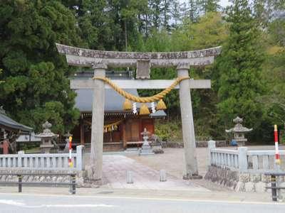 岐阜県村上神社の鳥居