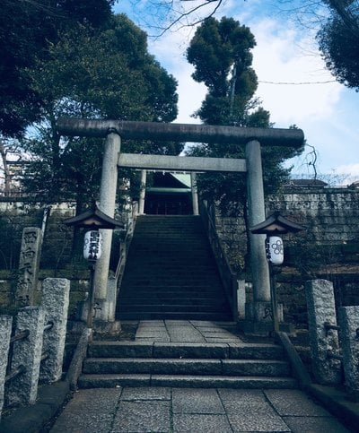 東京都西向天神社の鳥居