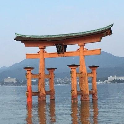 広島県厳島神社の鳥居