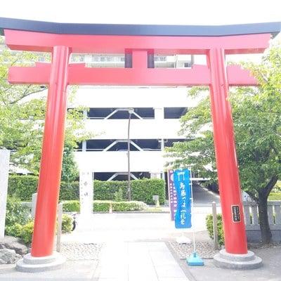 東京都亀戸浅間神社の鳥居