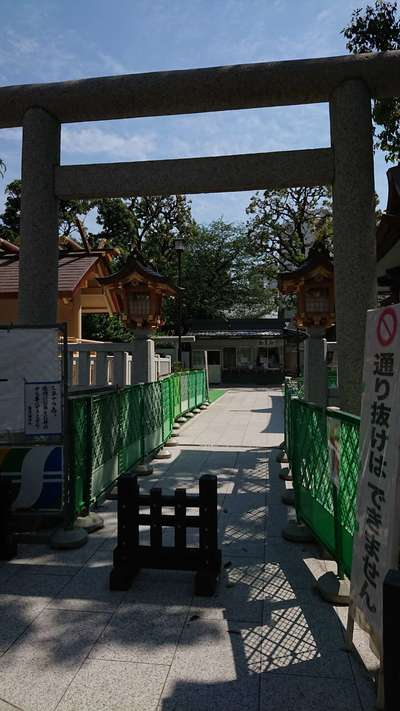 東京都蒲田八幡神社の鳥居