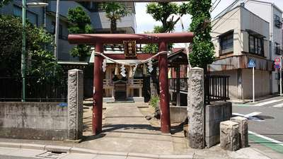 東京都椿神社の鳥居
