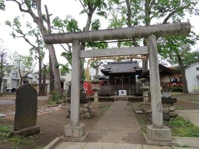 打越天神北野神社の鳥居