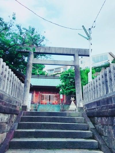 神奈川県皇太神宮の鳥居