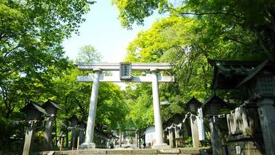 福島県南湖神社の鳥居