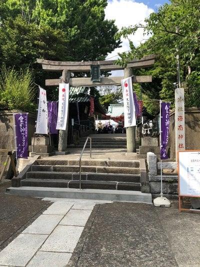 神奈川県海南神社の鳥居