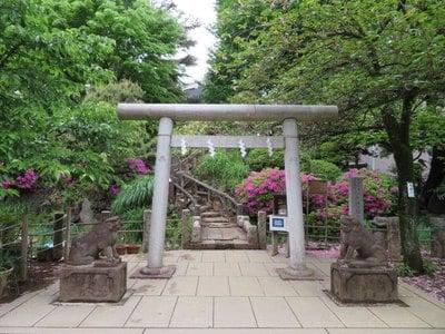 東京都鳩森八幡神社の鳥居