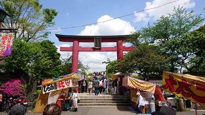 東京都亀戸天神社の鳥居