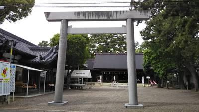 愛知県安久美神戸神明社の鳥居