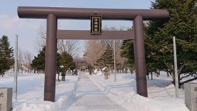 北海道江南神社の鳥居
