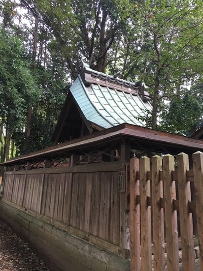 茨城県長幡部神社の本殿