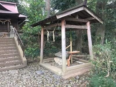 長幡部神社の手水