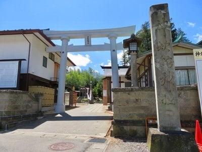 福島県神炊館神社の鳥居