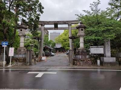 岐阜県加納天満宮の鳥居