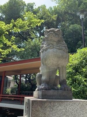 熊野神社(東京都自由が丘駅) - 狛犬の写真