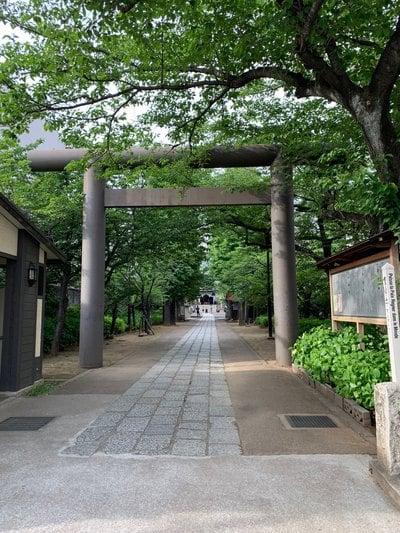 東京都亀戸香取神社の鳥居