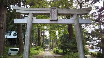 栃木県荒橿神社の鳥居