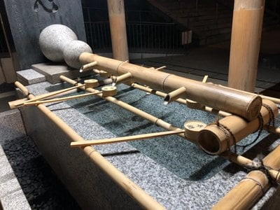 東郷神社の手水